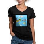 Barracuda Attitude Women's V-Neck Dark T-Shirt