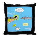 Barracuda Attitude Throw Pillow
