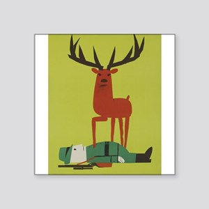 Vintage Anti Hunting Travel Poster Sticker