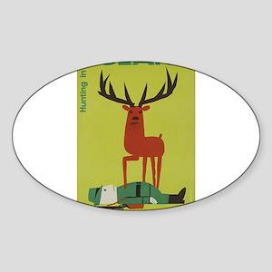 Polska Polish Poland Vintage Anti Hunting Sticker