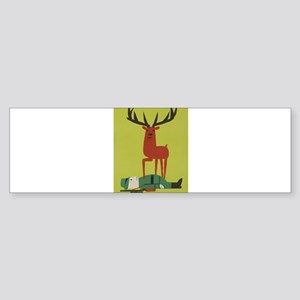 Vintage Anti Hunting Travel Poster Bumper Sticker