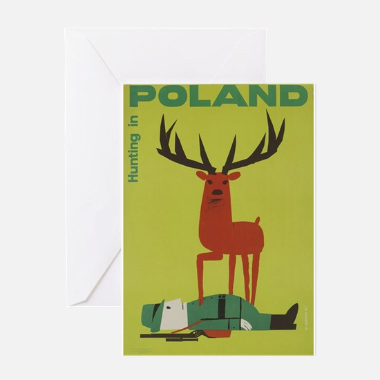 Polska Polish Poland Vintage Anti H Greeting Cards