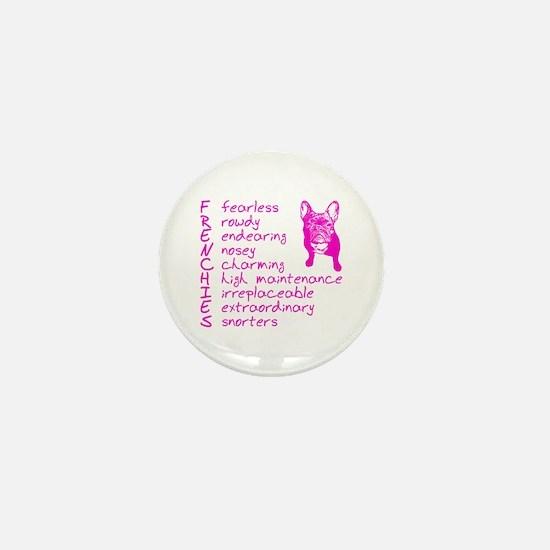 F R E N C H I E S pink Mini Button