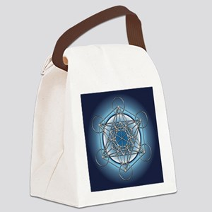Metatrons Cube Canvas Lunch Bag