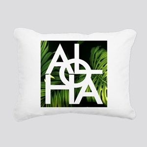 Aloha Whitre Graphic Pal Rectangular Canvas Pillow