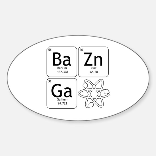 Cute Big bang theory evolution Sticker (Oval)