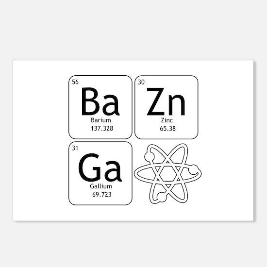 BaZinGa Atom TBBT Postcards (Package of 8)
