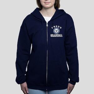 Proud US Navy Grandma Women's Zip Hoodie