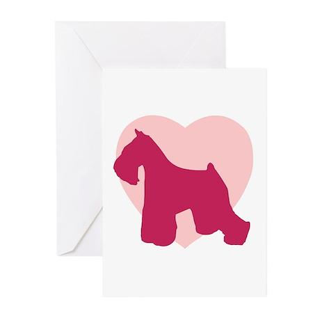 Miniature Schnauzer Valentine's Day Greeting Cards