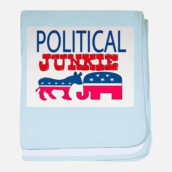 POLITICAL JUNKIE baby blanket