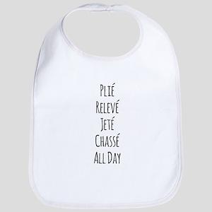 Ballet All Day Baby Bib