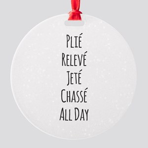 Ballet All Day Round Ornament