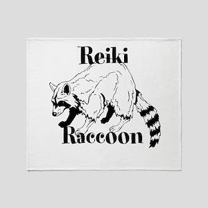 Reiki Nature Raccoon Throw Blanket