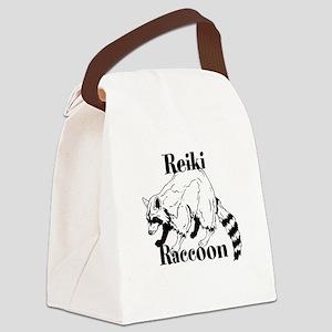 Reiki Nature Raccoon Canvas Lunch Bag