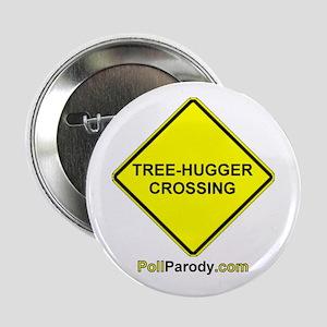 """Tree-Hugger Crossing 2.25"""" Button"""