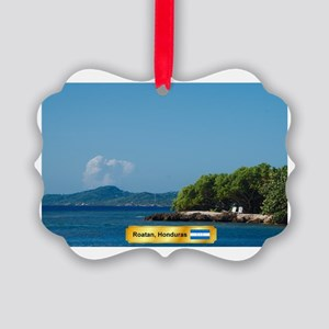 Roatan Honduras Picture Ornament