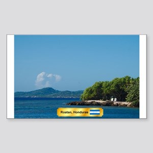Roatan Honduras Sticker (Rectangle)