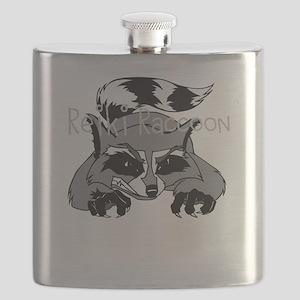 Reiki Raccoon Flask