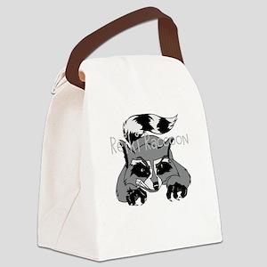Reiki Raccoon Canvas Lunch Bag