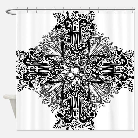 Unique Mushroom art Shower Curtain