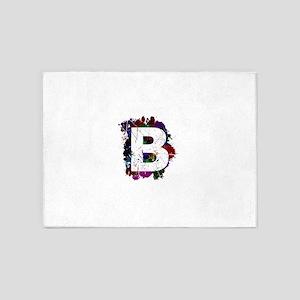 B (Ink Spots) (Black) 5'x7'Area Rug