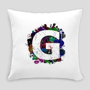 G (Ink Spots) (Black) Everyday Pillow