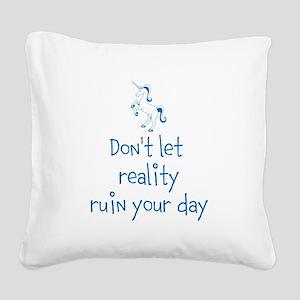 Reality Rush Square Canvas Pillow