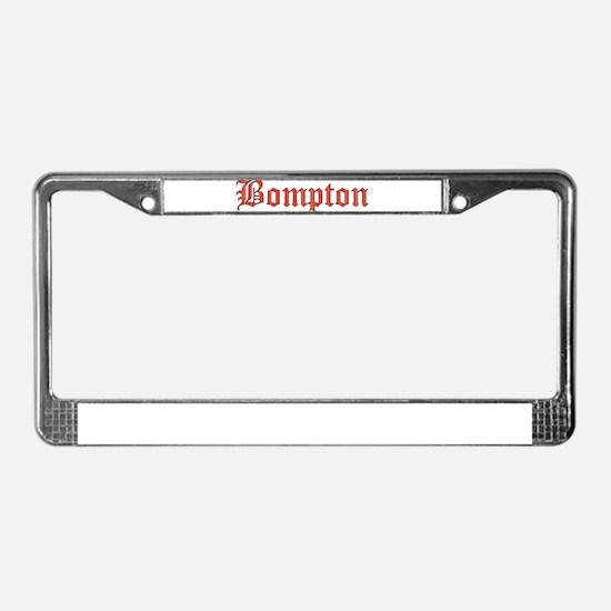Bompton License Plate Frame