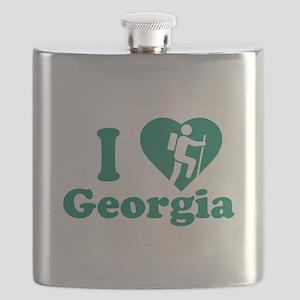 Love Hiking Georgia Flask