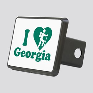 Love Hiking Georgia Rectangular Hitch Cover