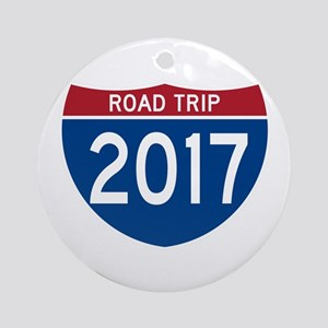 Road Trip 2017 Round Ornament