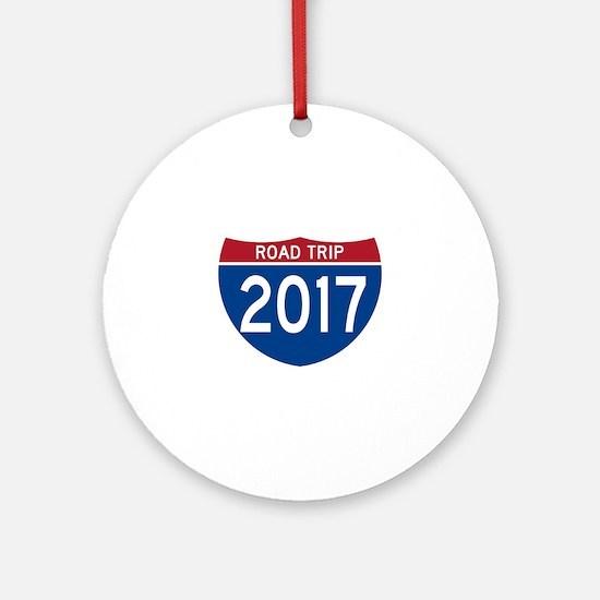 Road Trip 2017 Round Ornament
