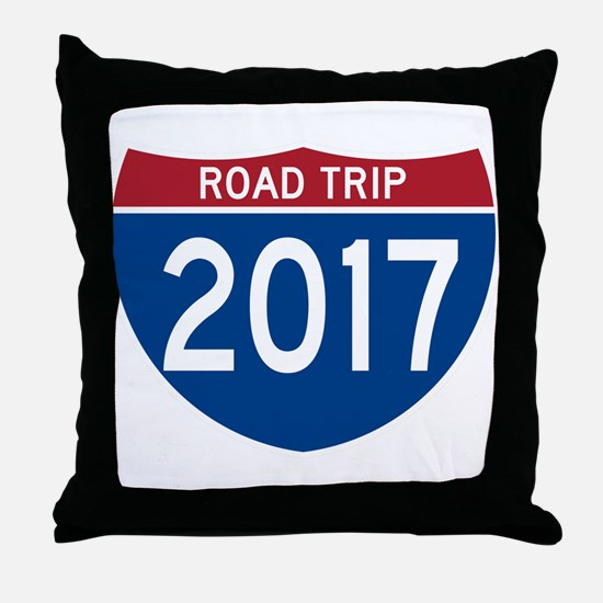 Road Trip 2017 Throw Pillow