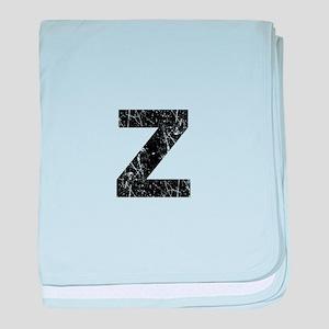 Z (Black) baby blanket