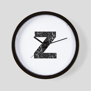 Z (Black) Wall Clock