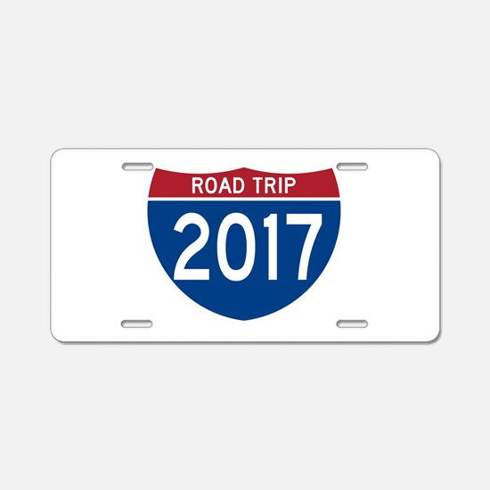 Road Trip 2017 Aluminum License Plate