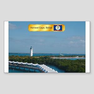 Harvest Caye Sticker (Rectangle)