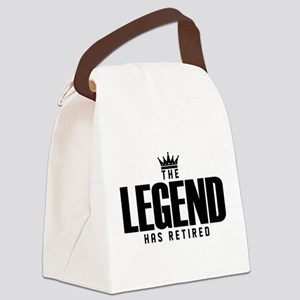 The Legend Has Retired Canvas Lunch Bag