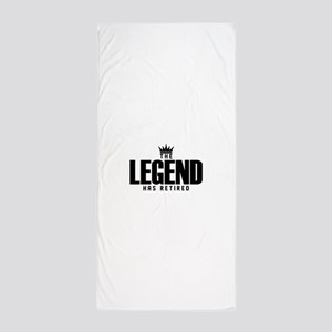 The Legend Has Retired Beach Towel