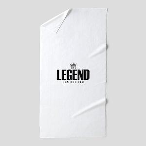 The Legend Has Retired Beach Towel