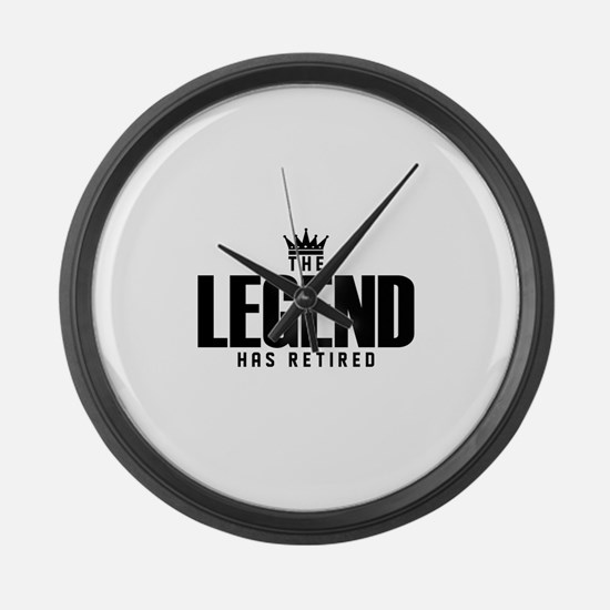 The Legend Has Retired Large Wall Clock