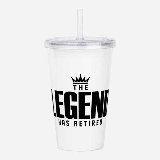 The Legend Has Retired Acrylic Double-wall Tumbler
