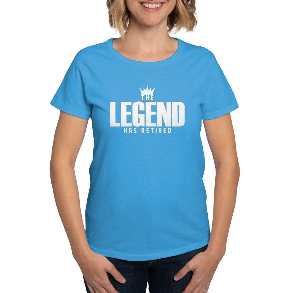 CafePress-The-Legend-Has-Retired-T-Shirt-Women-039-s-Cotton-T-Shirt-2038190499 thumbnail 45