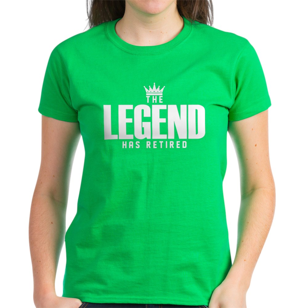CafePress-The-Legend-Has-Retired-T-Shirt-Women-039-s-Cotton-T-Shirt-2038190499 thumbnail 67