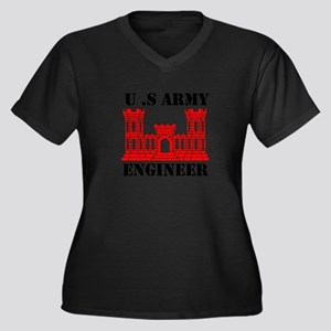 Army Engineer Castle Plus Size T-Shirt