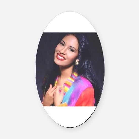 Cute Selena Oval Car Magnet