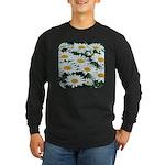 Shasta Daisies Long Sleeve Dark T-Shirt