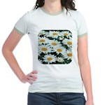 Shasta Daisies Jr. Ringer T-Shirt