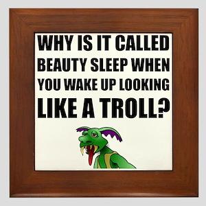 Beauty Sleep Troll Framed Tile