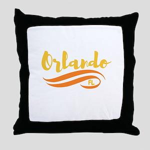 Orlando FL Throw Pillow